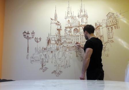 От чего зависит стоимость росписи стен?